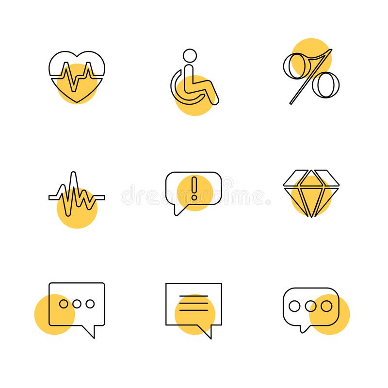 hart, tarief, handicap, percentage, ecg, bericht, diamant, vector illustratie