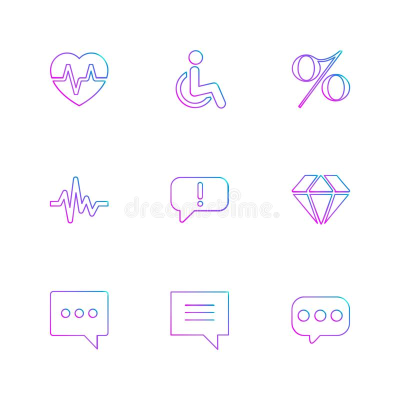 hart, tarief, handicap, percentage, ecg, bericht, diamant vector illustratie