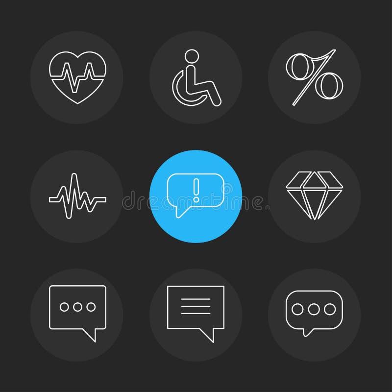 hart, tarief, handicap, percentage, ecg, bericht, diamant royalty-vrije illustratie