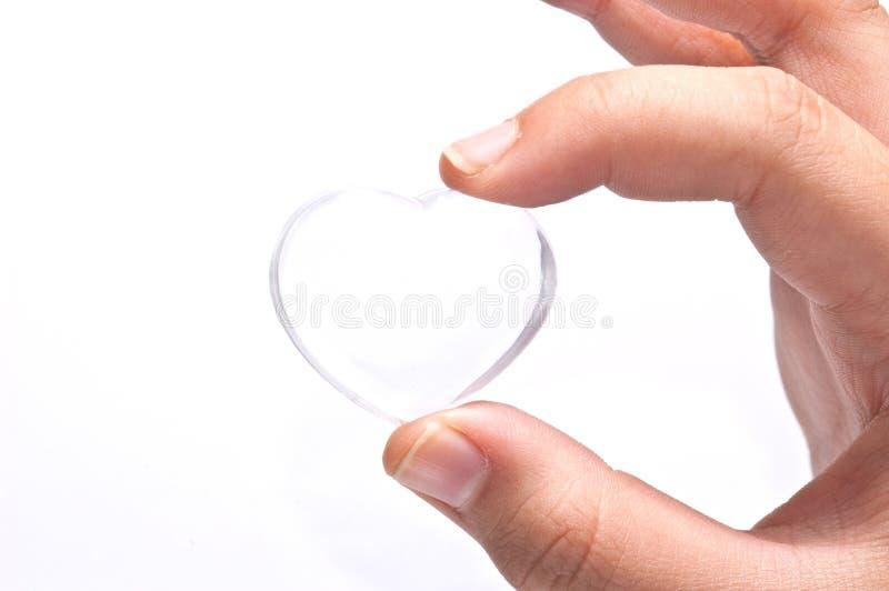hart ter beschikking op witte achtergrond royalty-vrije stock foto