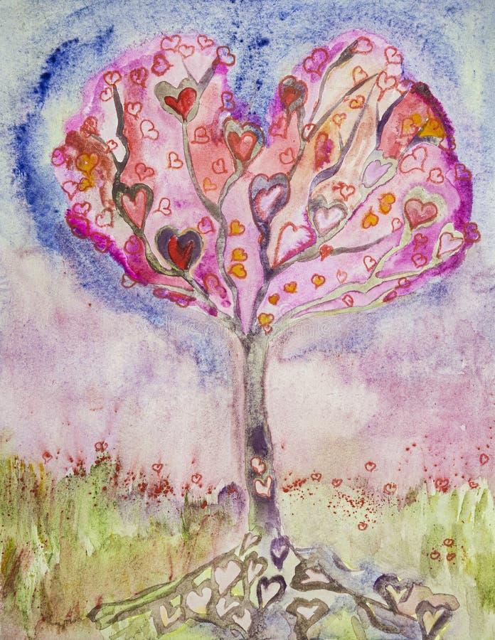 Hart-träd i livet arkivfoton