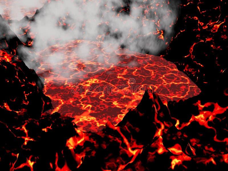 Hart van 3D vulkaan - geef terug