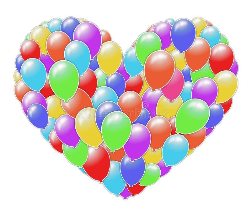 Hart van ballons stock illustratie