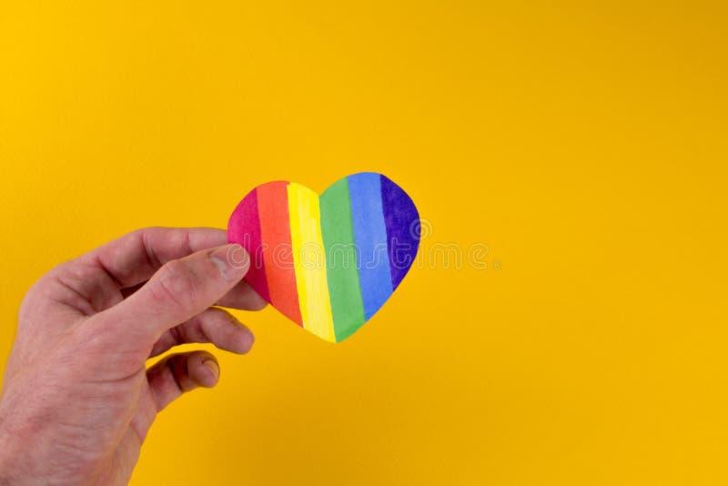 Hart van de LGBT-vlag stock afbeeldingen