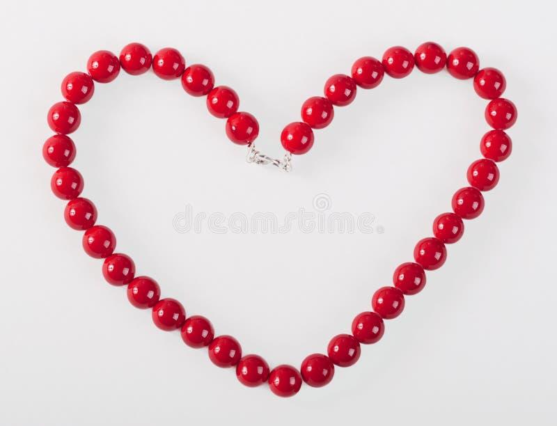 Hart van de rode parels van mardigras