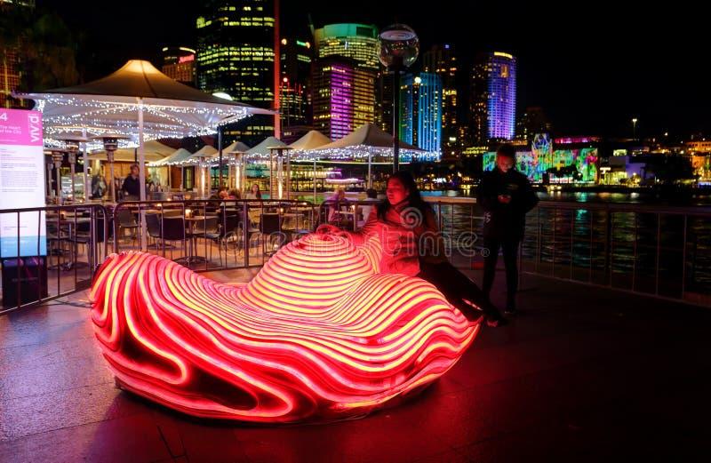 Hart van de Stad Levendig Sydney stock fotografie