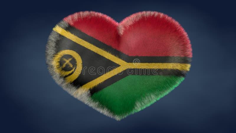 Hart van de vlag van Vanuatu royalty-vrije illustratie