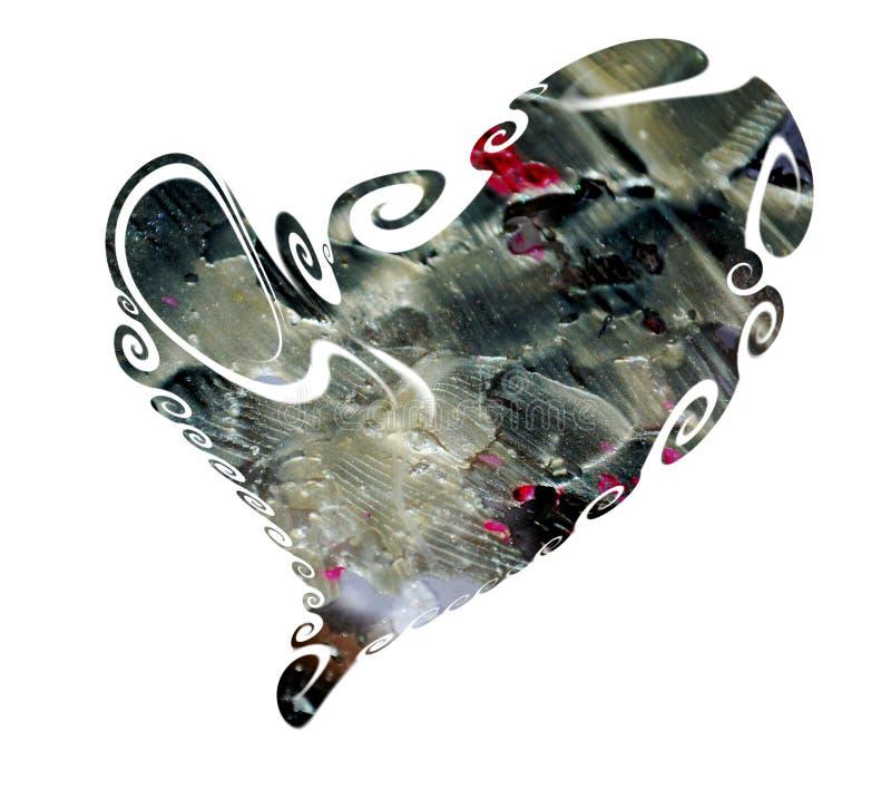 Hart van donkere kleurrijke tinten, liefdebeeld wordt gemaakt dat vector illustratie
