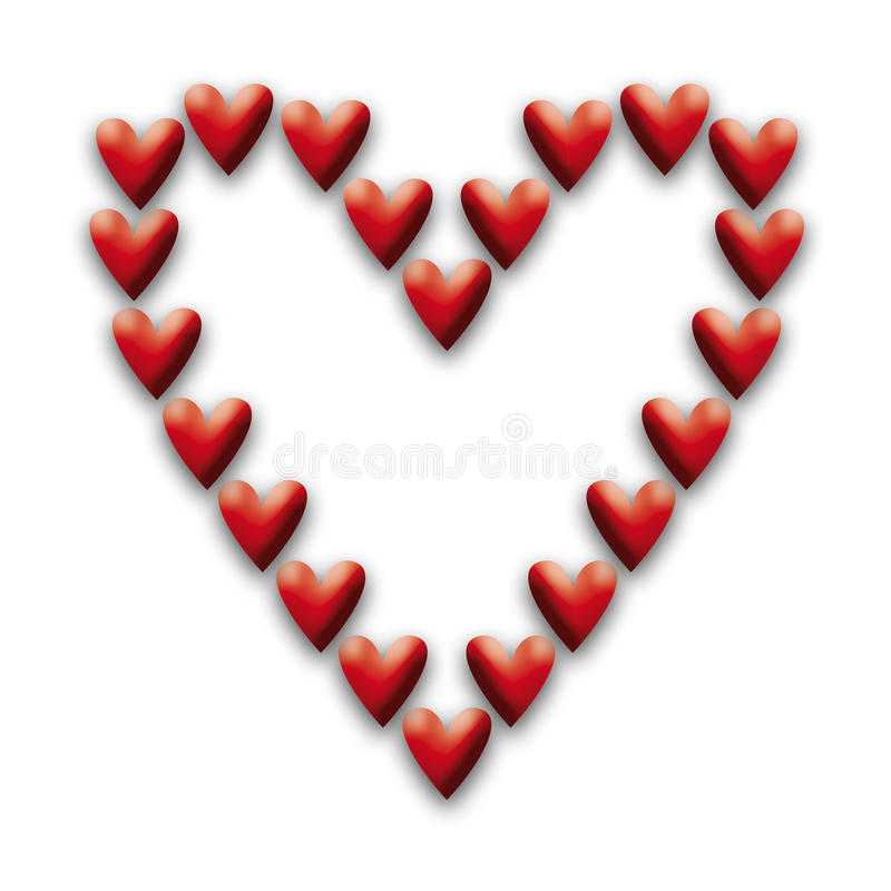 Hart van harten stock fotografie