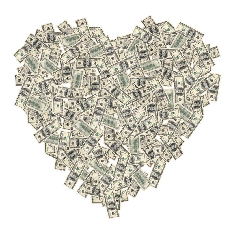 Hart van het geld royalty-vrije stock afbeelding