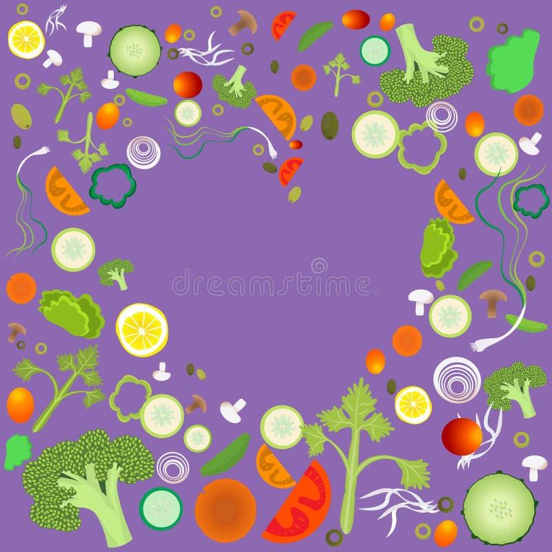 Hart van plantaardig patroon stock illustratie