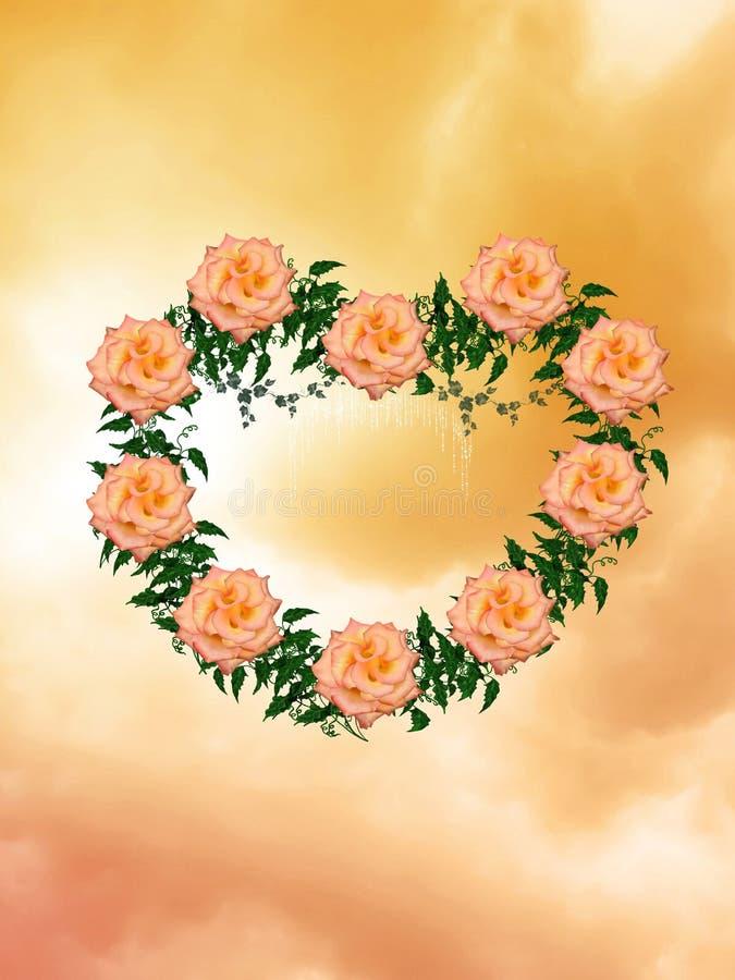 Hart van rozen vector illustratie