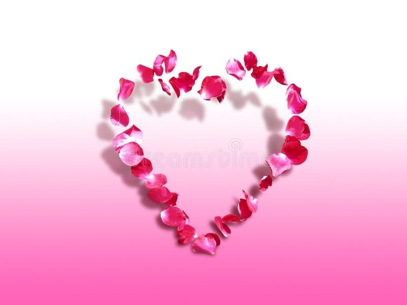 Hart van rozen - St. de achtergrond van de Valentijnskaart stock afbeeldingen