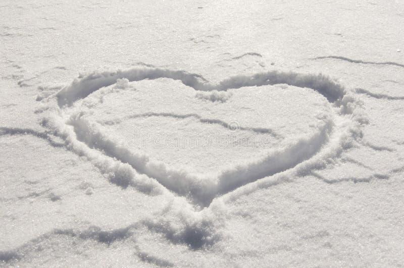 Hart van sneeuw stock foto