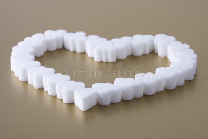 Hart van suiker royalty-vrije stock fotografie