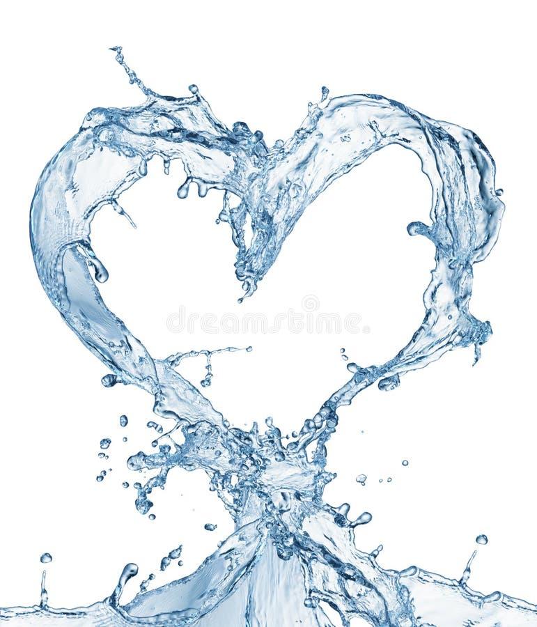 Hart van waterplons met bellen royalty-vrije stock foto
