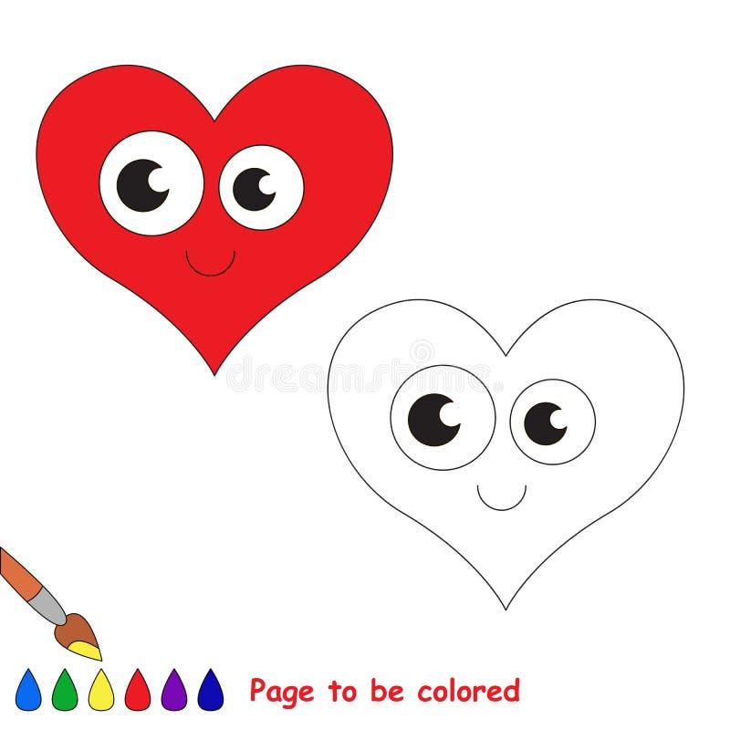 Hart in vector te kleuren beeldverhaal vector illustratie
