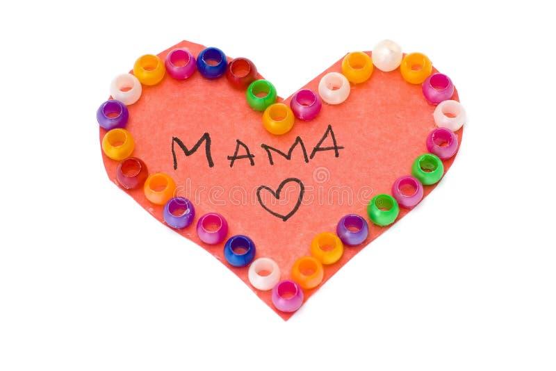 Hart voor Mamma stock fotografie