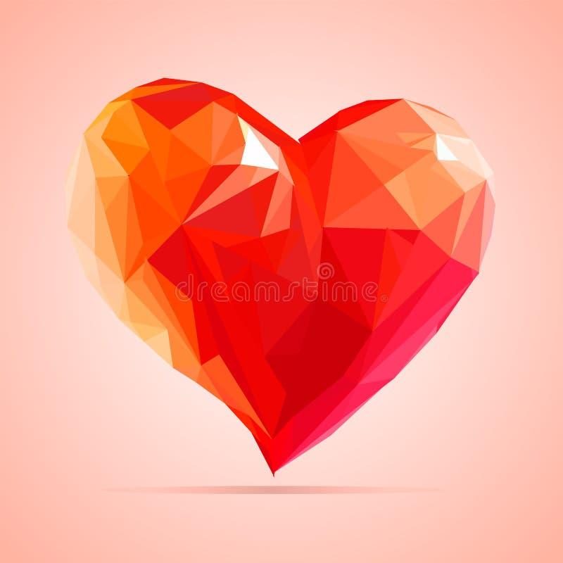 Hart voor Valentine, met liefde wordt gemaakt die stock foto