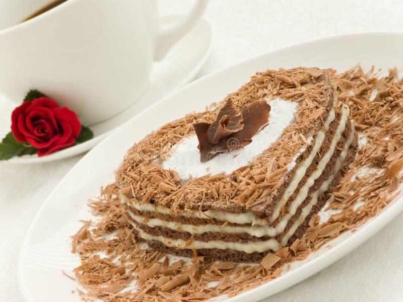 Hart-vormige cake royalty-vrije stock fotografie