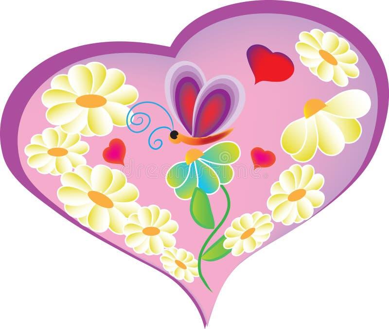 Download Hart1 ilustração do vetor. Ilustração de crianças, flor - 12800792