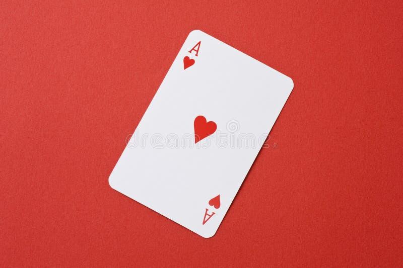 Hartaas van speelkaart royalty-vrije stock foto's