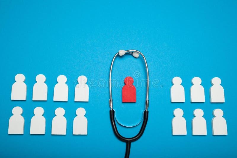 Hartarts, hartgezondheid Stethoscoop stock afbeelding
