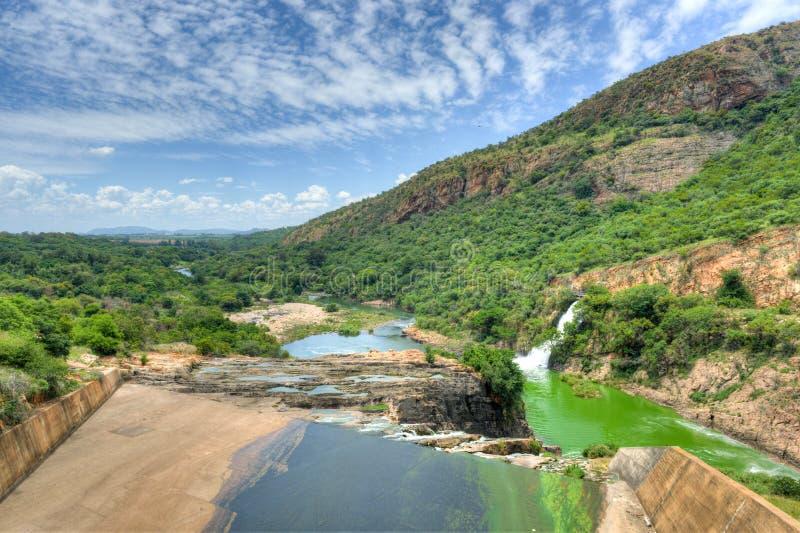 Hartbeespoort tama - Południowa Afryka zdjęcia royalty free