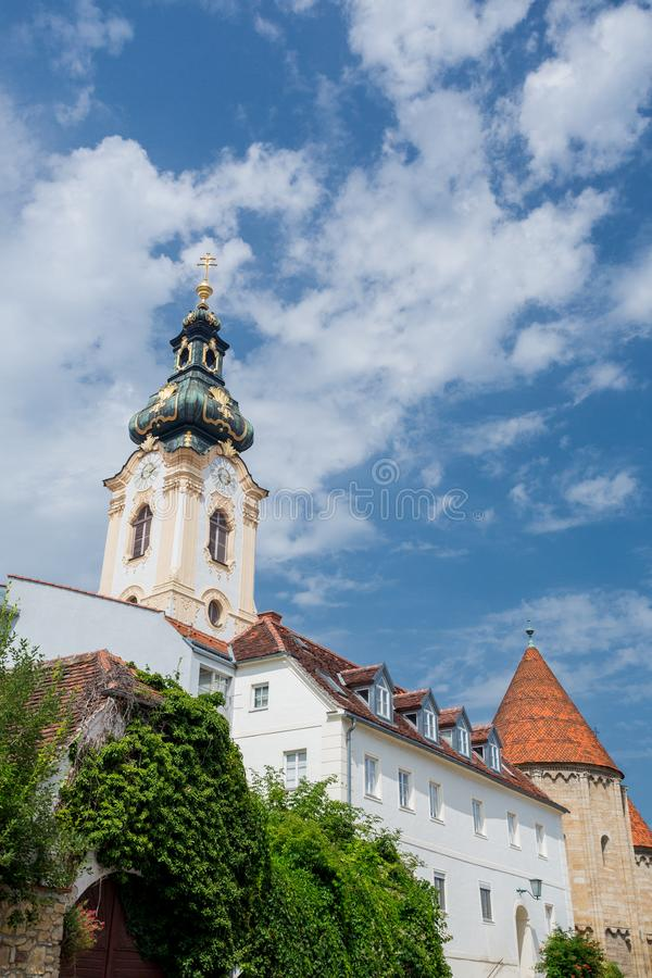 Hartberg church, Austria. Hartberg church and castle in Austria royalty free stock images