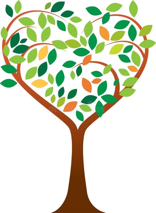 Hartboom vector illustratie