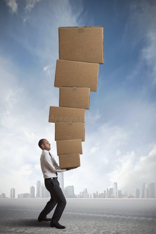 Harte Karriere im Geschäft stockfoto