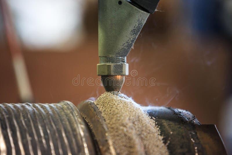 Harte Oberflächenbearbeitung versenken vorbei Bogenschweißverfahren stockbild