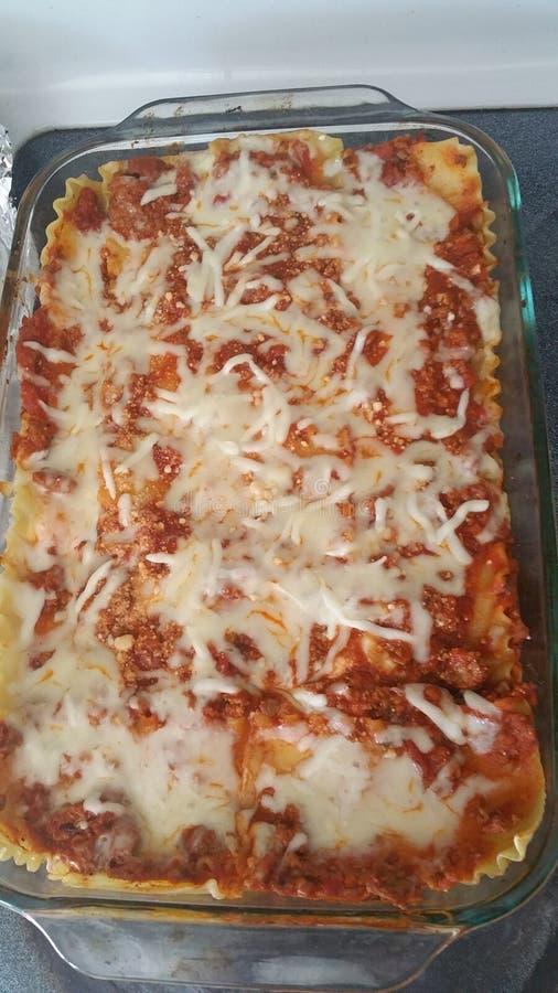 Hartelijke het voedsel van het lasagna'sdiner stock afbeeldingen