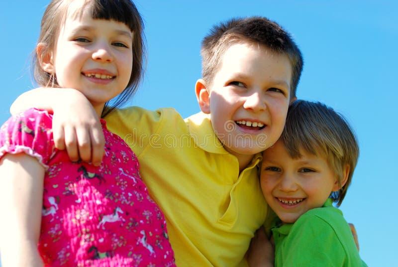 Hartelijke kinderen royalty-vrije stock afbeelding
