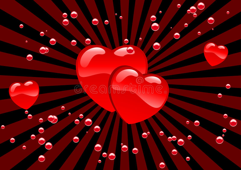 Harten en bellen vector illustratie