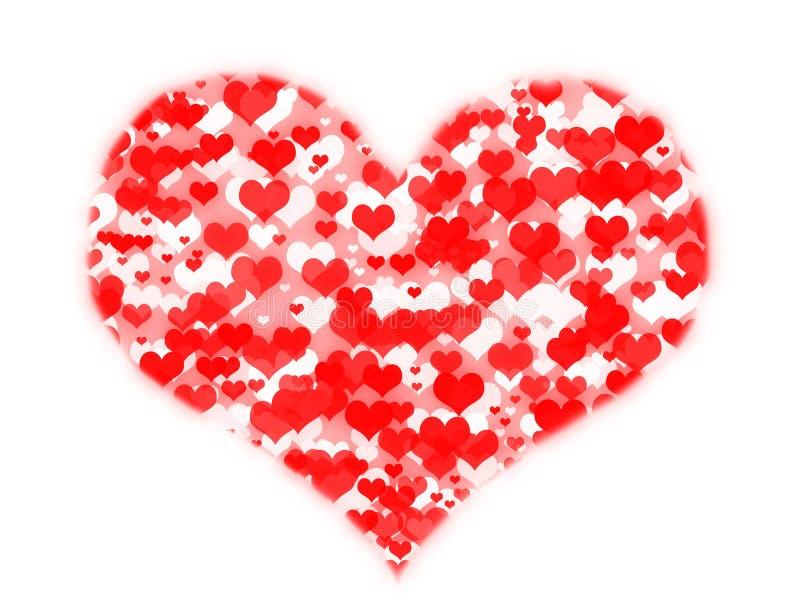 Harten in hart royalty-vrije illustratie