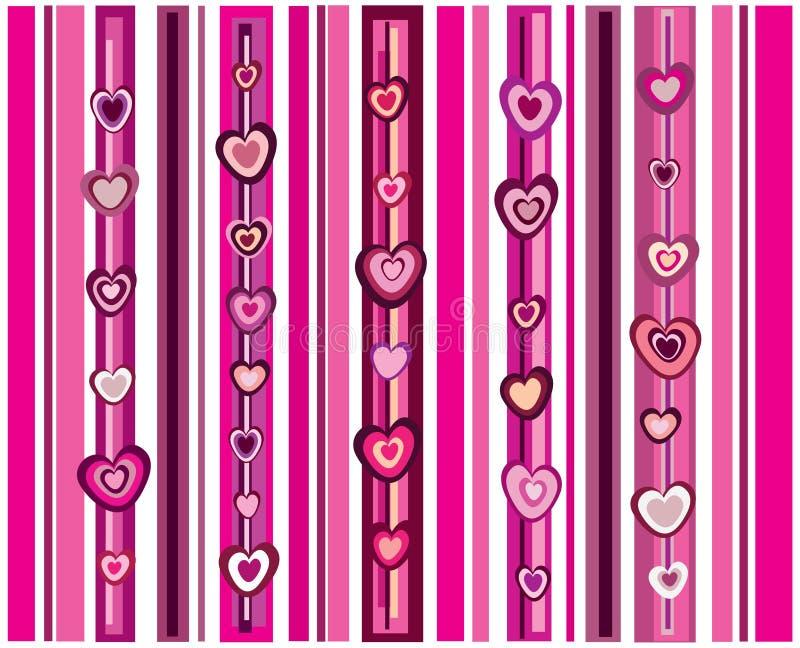 Harten met strepen stock afbeelding