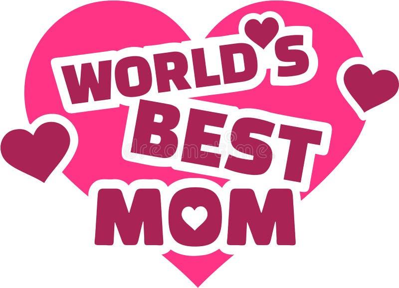 Harten van het wereld` s de beste Mamma stock illustratie