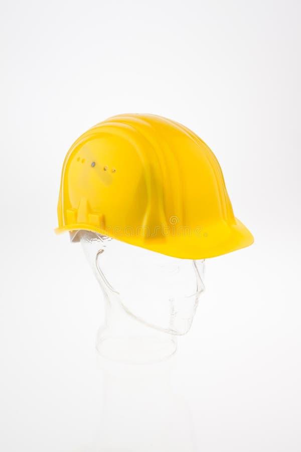 Harter Hut eines Bauarbeiters lizenzfreie stockfotos