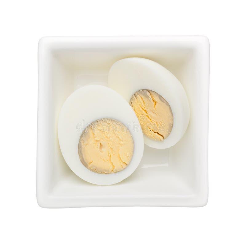 Hartes gekochtes Ei stockbilder