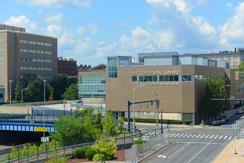 Hartford-öffentliche Bibliothek, Hartford, Connecticut, USA stockfoto