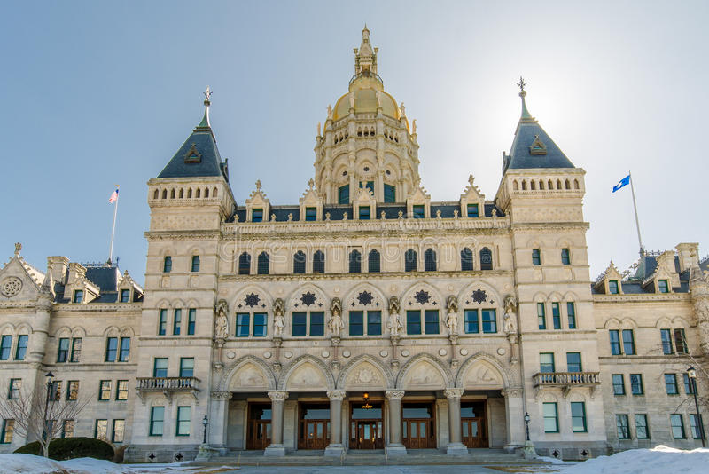 Hartford Connecticut Capitol budynek zdjęcie stock