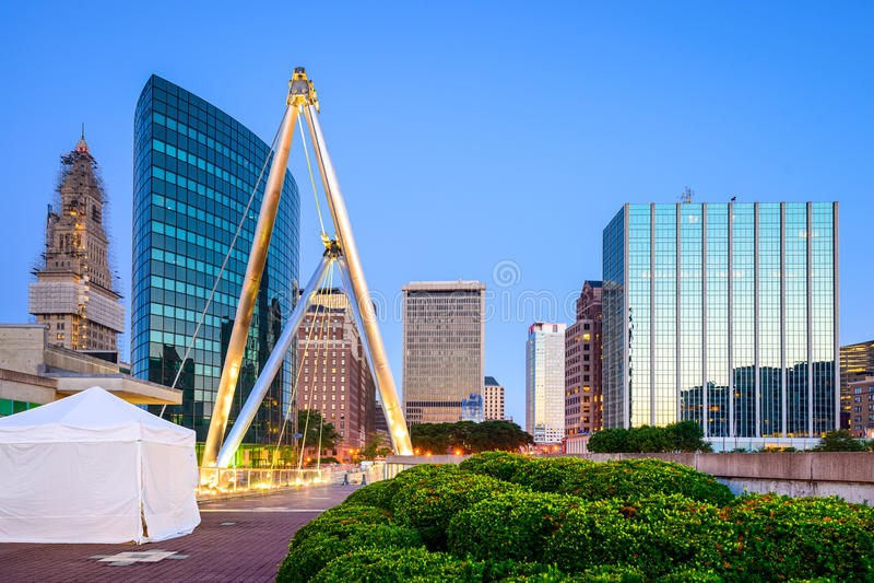 Hartford, CT-Stadtbild stockfoto