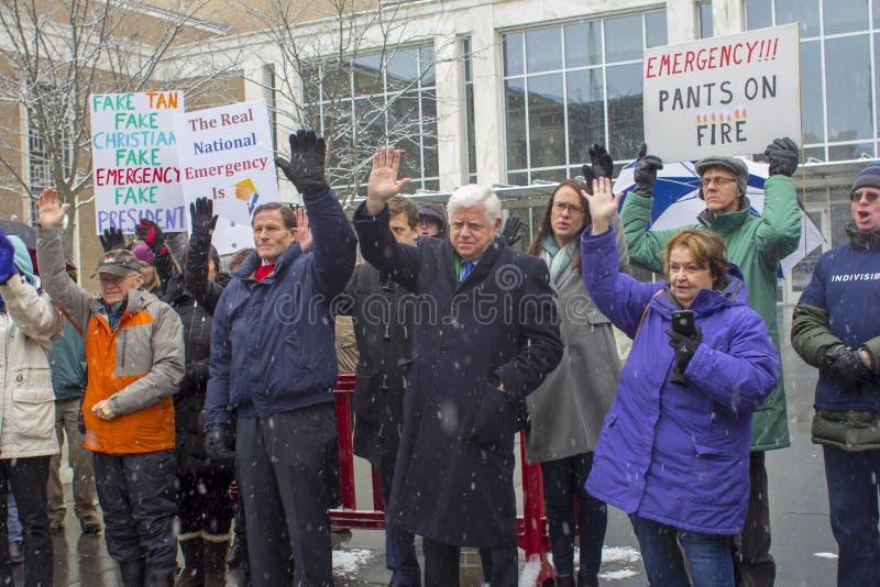 Hartford Day Rally 2019 nicht meines Präsidenten lizenzfreies stockbild