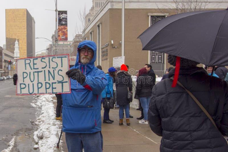 Hartford Day Rally 2019 nicht meines Präsidenten lizenzfreies stockfoto