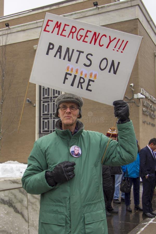 Hartford Day Rally 2019 nicht meines Präsidenten lizenzfreie stockfotografie