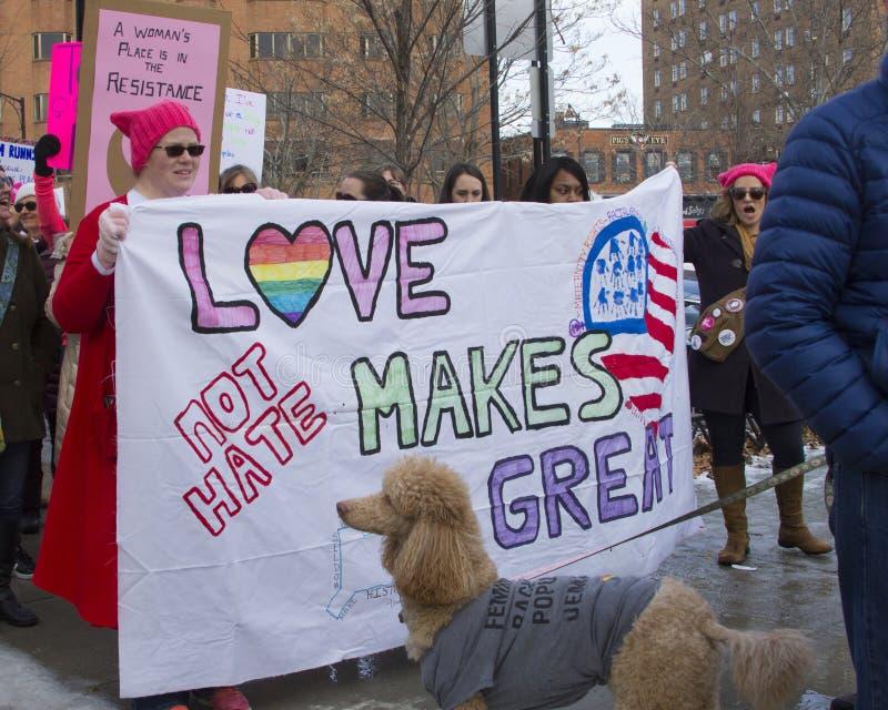 Hartford femmes ` s en mars 2018 photos libres de droits