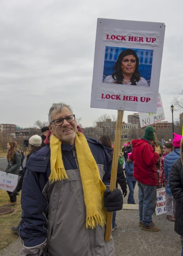 Hartford-Frauen im März 2019 stockfotografie