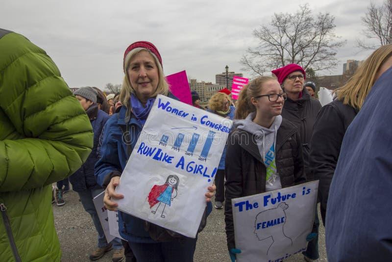 Hartford-Frauen im März 2019 lizenzfreie stockfotos