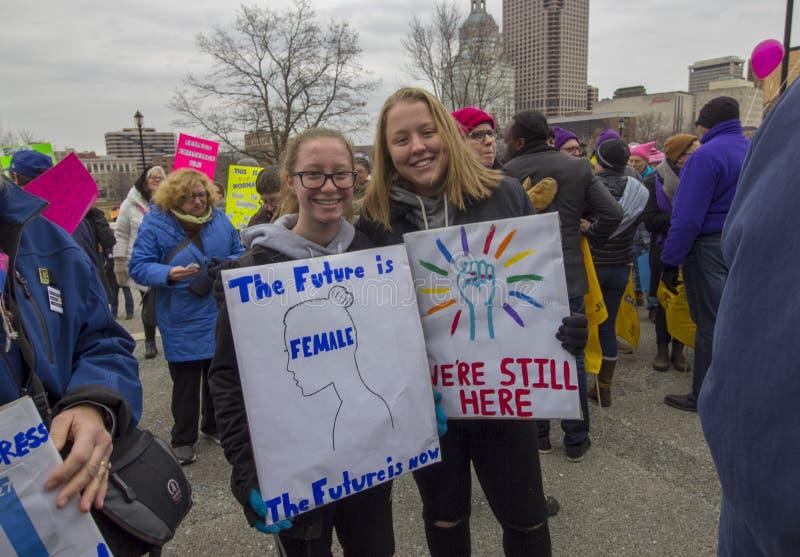 Hartford-Frauen im März 2019 stockfoto